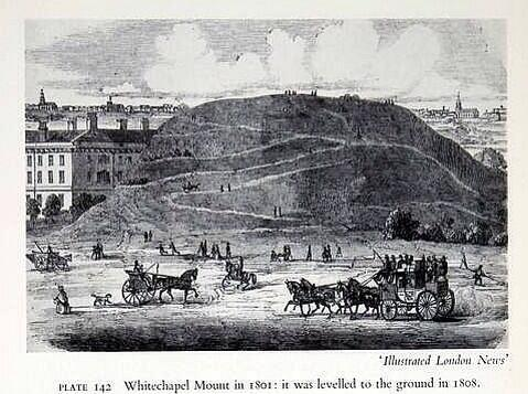 The Whitechapel mount, fascinating, some sort of fortification for civil war, next to what the Royal London. http://t.co/wZBkxpULPl