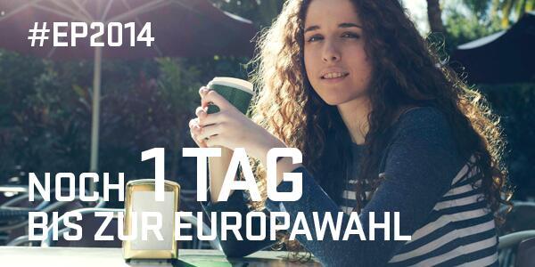 Europawahl: Morgen liegt es in Eurer Hand. RT wenn Ihr bei #EP2014 wählt. http://t.co/HlxIfN3qT6 #GehWählen http://t.co/LaKIR6tr9I