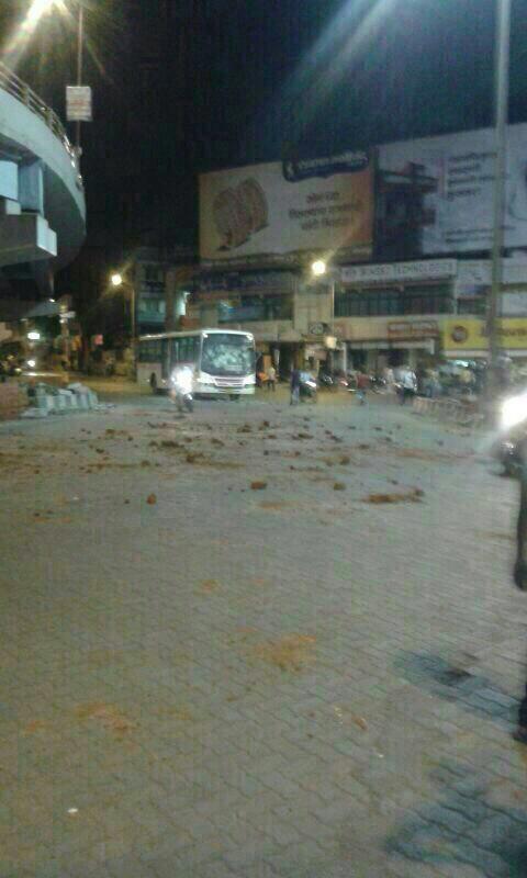 "Achche din :p ""@yogeshsadhwani: Protestors on rampage in Pune http://t.co/m5dEYzj5z0"""