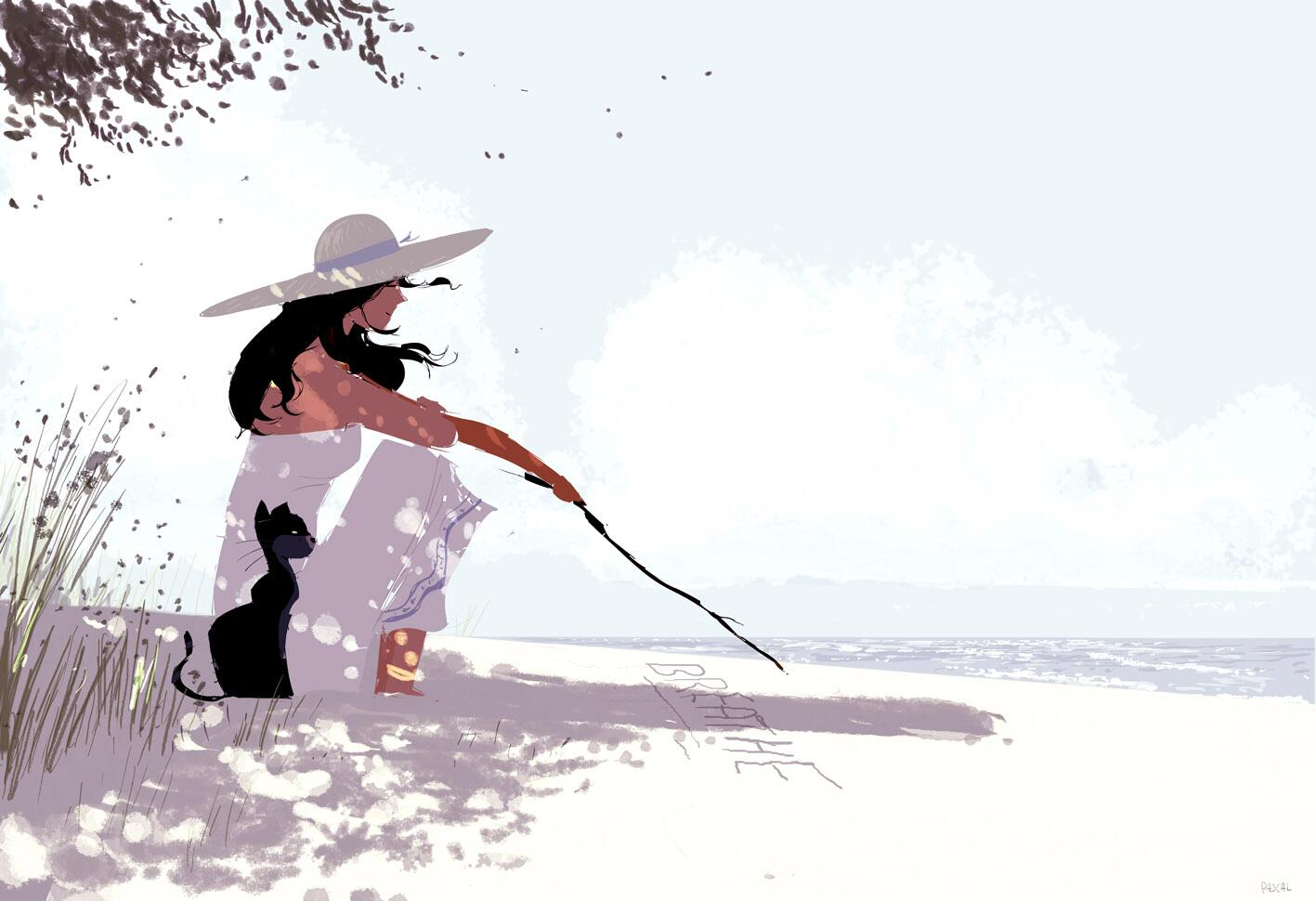 Words in the sand.  #pascalcampionart.  It's pretty much a follow up from yesterday's sketch. http://t.co/WmWgiJLSaa