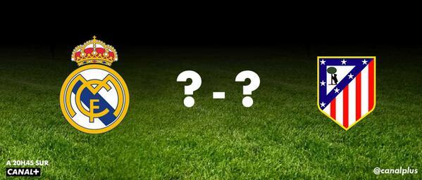 RT @canalplus: Quel score pour #RealAtletico ce soir ? Tweetez vos pronostics ! http://t.co/6IybTUe9FP