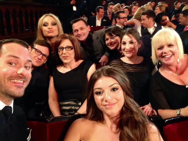 Pre show selfie @SoapAwards @bbceastenders @OfficialRita @dominictc http://t.co/2patuWnXO0