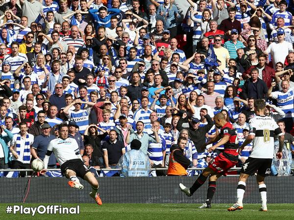 Bobby Zamora scores QPR's winner [via @PremierLeague]