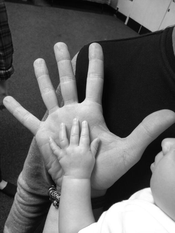 Buzz and uncle Danny's hands