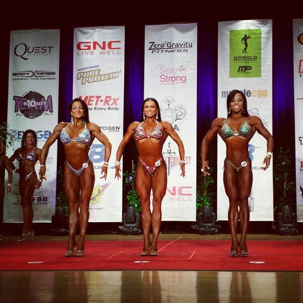 IFBB Cal Pro Open top three.   Camala Rodriguez. Latorya Watts. Sasha Brown. http://t.co/G89pQMyt2n