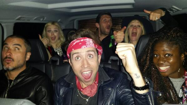 @BBCR1 @Alicelevine @allymccrae shout out to R1 crew stuck in a van in the rain. Avin IT & avin a listen #R1BW http://t.co/aVldKf3Plo