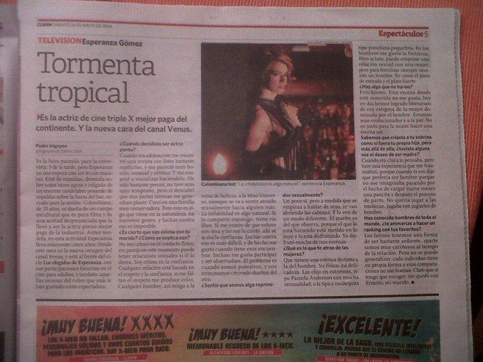 una nota muy bonita de Diario Clarin de argentina.. muchas gracias http://t.co/iSTSLGc44o