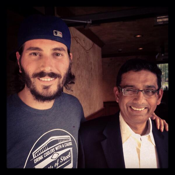 Pretty awesome shooting with @DineshDSouza for his new movie #America! What a brilliant mind! http://t.co/lpFQghXi3Z