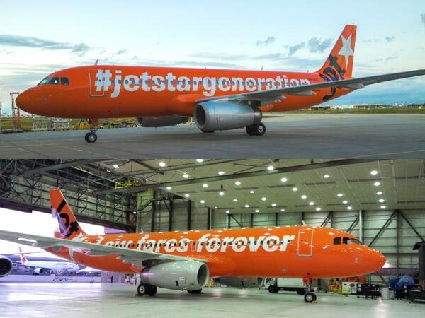 Happy birthday to us! Check out our special #Airbus A320 livery. Low fares forever :)  #jetstargeneration #avgeek http://t.co/5eT6LWv42M