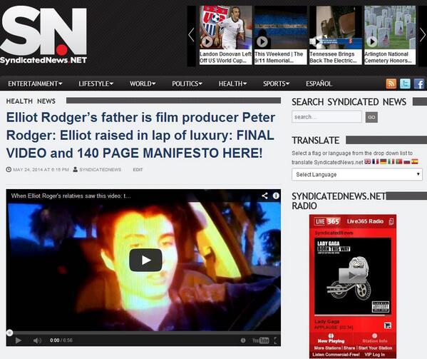 @AMW #homicide #murder Elliot Rodger's #TWISTEDWORLD 140 pp manifesto available at http://t.co/omtRgIwg1u http://t.co/sifUdj7uGD