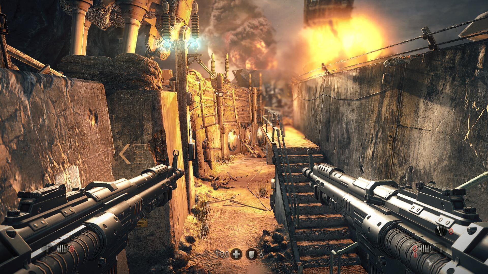 Double fusil d'assault dès le 1er niveau ! #wolfenstein #PS4share #ps4 http://t.co/VMEcIkpZlT