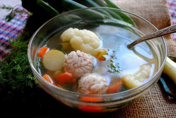 Фрикадельки с рисом пошаговый рецепт фото