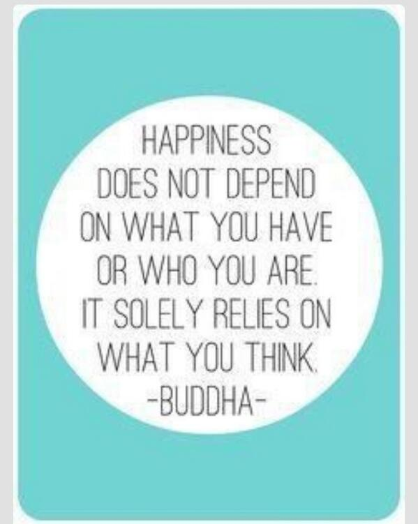 """Happiness """"relies on what you think""""- Buddha. So think happy today! #gettheglow http://t.co/ThpaUNVRah"""