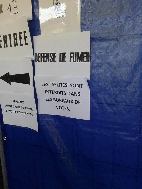 "In Belgium RT @leireariz: ""No #selfies allowed inside voting booth"" #be2505 #europeanelections via @yonipabes http://t.co/tgBLih34IC"