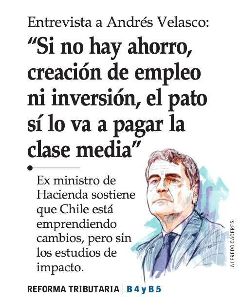 No olvidemos que Velasco fue Min. de Bachelet. La reforma tributaria afectará a clase media y PYMES http://t.co/GvR0bJf1bB