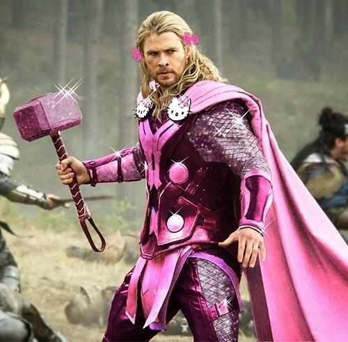 Glitter hammer. NICE HT @Schrokit RT @NorseMythNews Thor does not accept your patriarchal definitions of gender roles http://t.co/JCl7jJV6ET