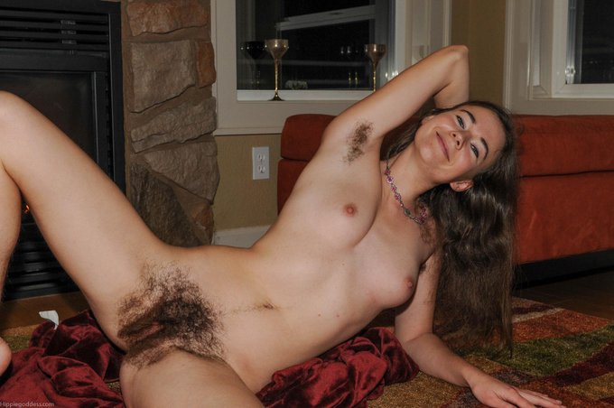 #scareyhairy  not really scarey, more sexy, furry loveliness in motion.  #fullbush, #treasuretrail, #hairynipples
