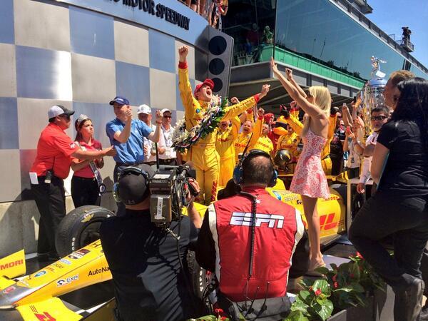 WE WON!!!!!!!!!!!!!!!!!! #Indy500 #indycar http://t.co/UQsB3n3LYf