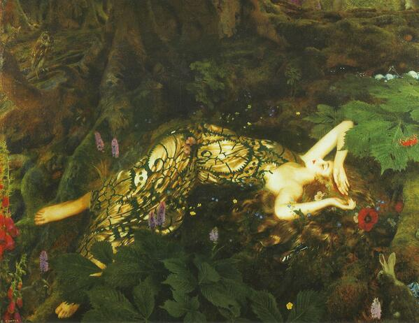 There sleeps Titania sometime of the night, Lull'd in these flowers with dances and delight. #ShakespeareSunday http://t.co/yLrXWOR90o