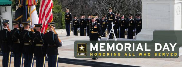 While many of us are enjoying a day off tomorrow, let's not forget the reason for the day. #Honor #MemorialDay http://t.co/K2aQAvzNbF