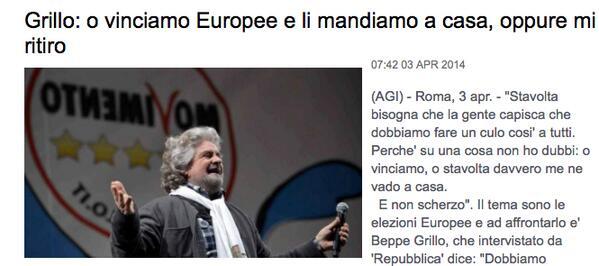 Grillo si è ritirato o sa dare dell'incoerente solo agli altri? http://t.co/KOU2Iv4UBu