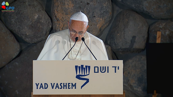 #PopeFrancis is now at Yad Vashem.  Join the live streaming: http://t.co/lRrfEX7a4n http://t.co/dSgQIBNApE