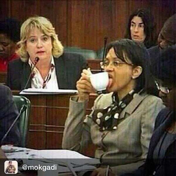 Meet South Africa's new Minister of Energy. No wastage during her watch, of that you can be certain. http://t.co/KW8ottmBlZ