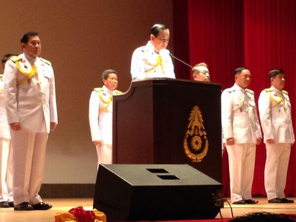 General Prayuth has royal endorsement to run Thailand  following last week's military coup. #ThaiCoup http://t.co/ntRuNuhlGp