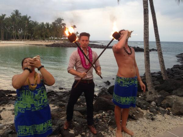 @JacksonRathbone gets NATIVE in Hawaii at the @BigIslandFilm Festival #2014BIFF http://t.co/6sUPOzaYKs