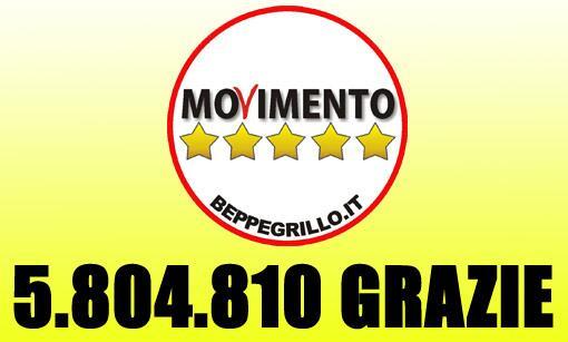Grazie ai 5.804.810 italiani che hanno votato il MoVimento 5 Stelle Vi dedico questa poesia: http://t.co/f9y38QUv2B http://t.co/QfZWkuW64H