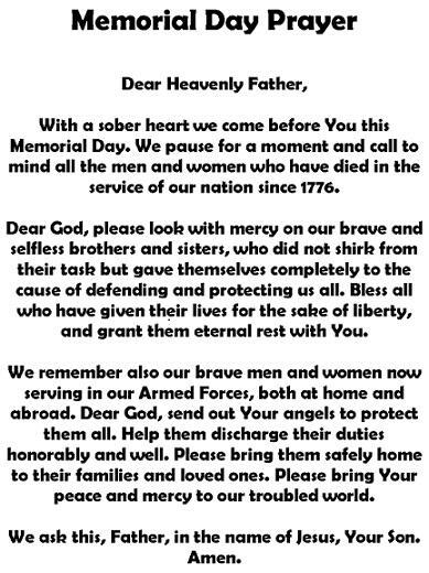 Memorial Day Prayer http://t.co/HvdhPsf8yO