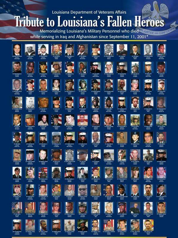 Louisiana's Fallen Heroes - never forget those who gave the ultimate sacrifice. http://t.co/yR9WAdfsEm