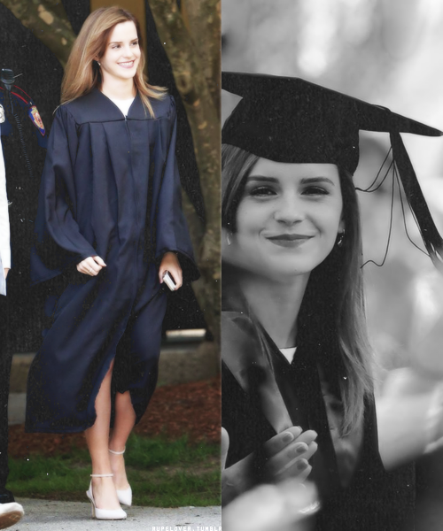 Emma looks absolutely gorgeous at her graduation. Such a shining smile. How does one pull off looking so flawless? http://t.co/ASTUHrrxch