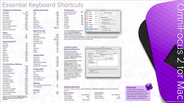 "This sick cheat sheet is built into OmniFocus 2! Go ""Help"">""Keyboard Commands"" http://t.co/iLUUPIleWn"