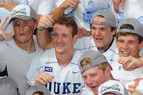 . @Duke_MLAX Army Ranger Casey Carroll. 29 years old, four deployments, two kids and an NCAA title on Memorial Day. http://t.co/TOloSjGTOF