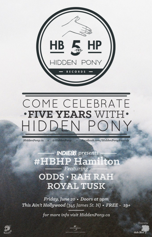 Hey #HamOnt, come party with us at our 5th anniversary show June 20 @thesainttweets! » https://t.co/cVy1kGyWyV #HBHP http://t.co/1W3EfLPjao