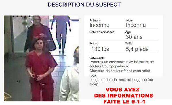 #AlerteAmber - PARTAGEZ! Cette femme a enlevé un bébé à l'hôpital de Trois-Rivières plus tôt aujourd'hui. http://t.co/DTrNQctVhz