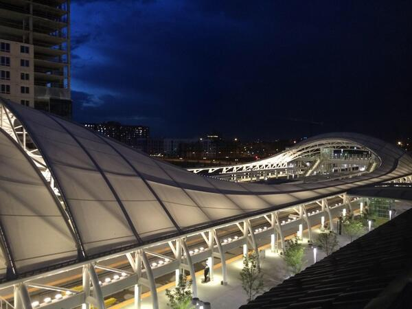 Denver Union Station at night. This is going to change our city in ways we can't comprehend. Psyched to be part of it http://t.co/u3VKpBrgzW