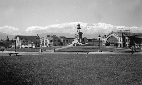 Vista de Plaza Baquedano y Estación Pirque de Santiago en 1940. @sebastian_gray @barrioitaliatv @santiagoadicto @purb http://t.co/MerbiLwRVv