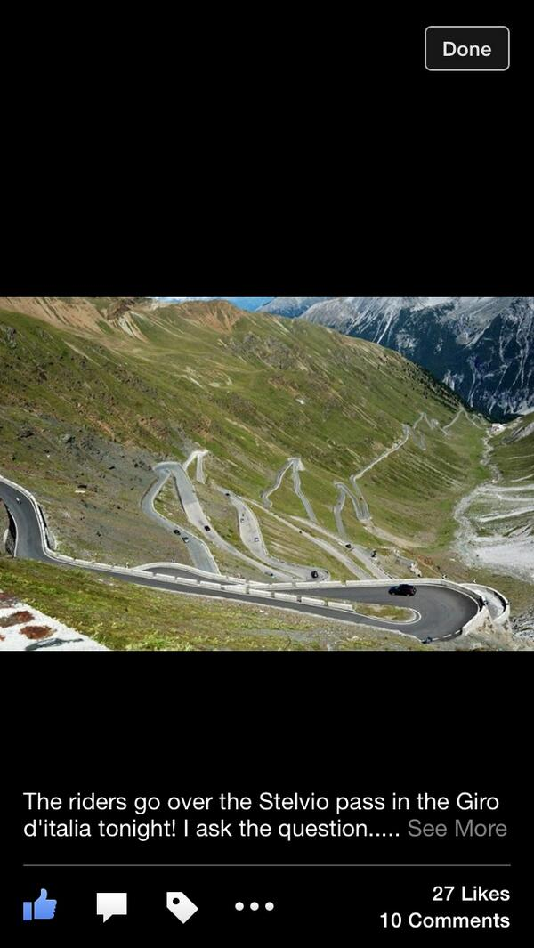 Is there a more iconic #giro pass? We are pumped for #stelvio tonight. Live streaming on @CyclingCentral website. http://t.co/mcd3CWmHGX