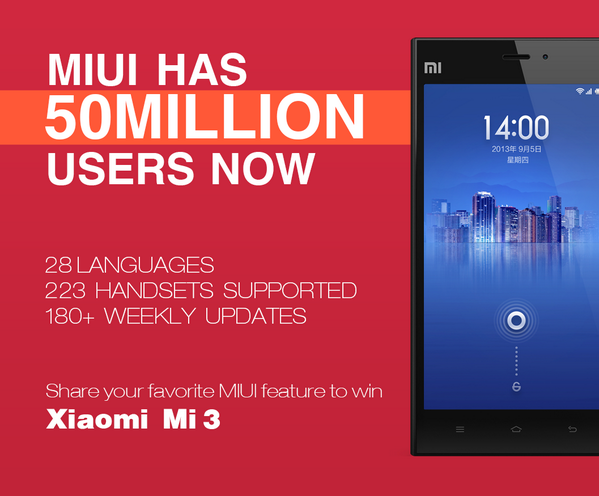 Follow @miuirom & RT this to win a Xiaomi Mi3 phone! A winner will be announced on May 29!http://t.co/aBmzZq55fq http://t.co/9XXbtkLbdE