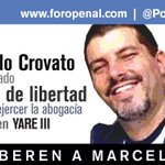 #27My Marcelo Crovato 34 días privado de libertad. Detenido cuando asistía allanamiento como abogado #LiberenAMarcelo http://t.co/4OK0W1V6T2