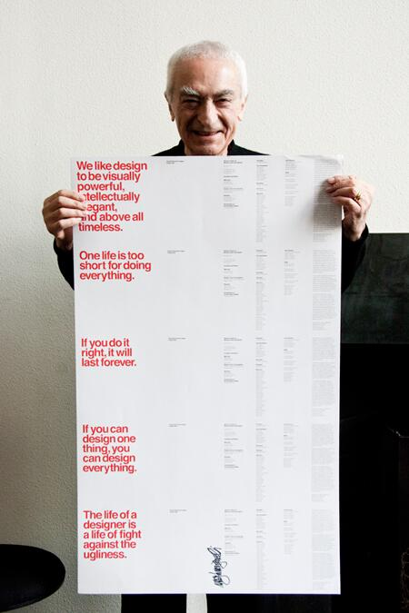 We mourn the loss of our friend Massimo Vignelli, a giant in the field of design http://t.co/kGtwPA0o55 http://t.co/9xVdKfm3Xo