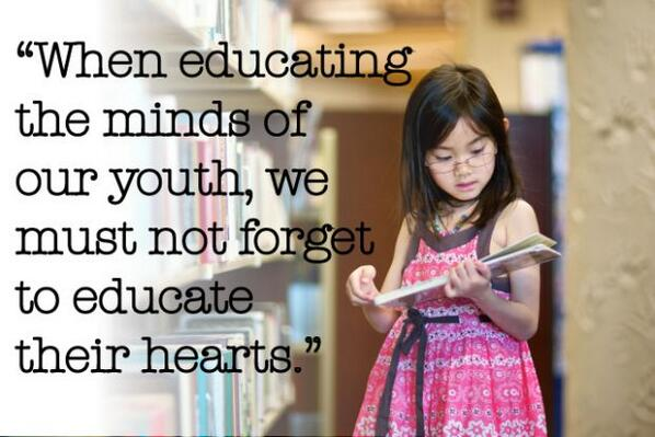 How important is it to educate hearts as well as minds? http://t.co/WzvWpzbbmj