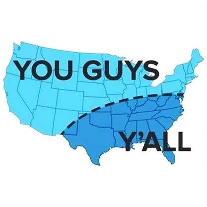 "North Vs. South - Choose your side.  Rt for ""Y'all"" favorite for ""You Guys"". http://t.co/g8OTSmDxD3"