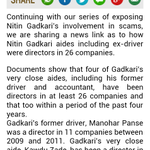 RT @AwareIndians: Continuing with our series of exposing Nitin Gadkari's involvement in scams, we are....   http://t.co/7p0cZZI5XU http://t…