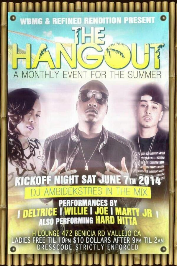 Come out & hear me sing in my hometown 6/7 at H Lounge on Benicia Rd in Vallejo http://t.co/vxrapq5QXf