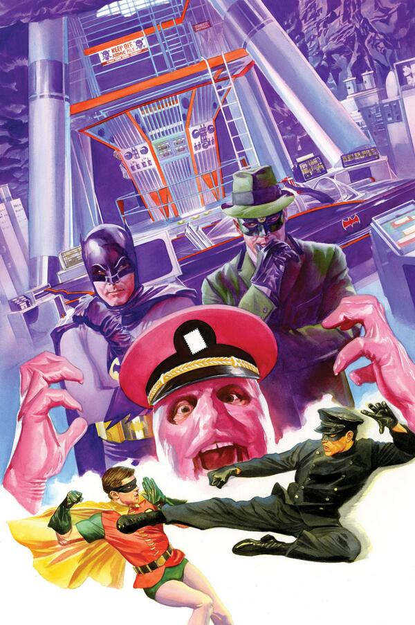 If you haven't seen Alex Ross' cover for our BATMAN '66/GREEN HORNET # 3, here it is. It's insanely awesome. http://t.co/wUARpDxQxs