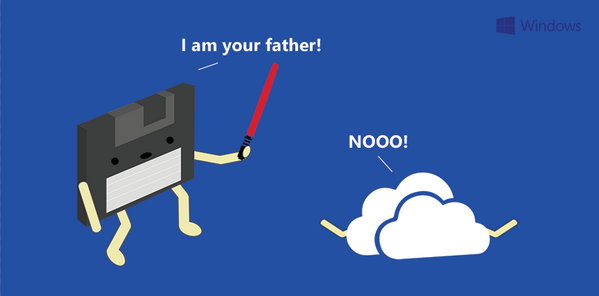 From floppy disks to fluffy clouds. Thanks @Windows for this clever artwork. #TechTuesday http://t.co/t1Zh6g6Cbq