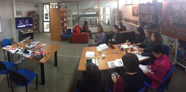 Videoconferencia con el embajador de Estados Unidos en @acornerumag #workshopamericancorner2014 http://t.co/M0dCUz5MwW